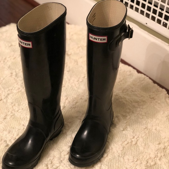 Hunter Shoes - Woman's Original Tall Glossy Rain boots